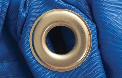 Gripper-Locked Bag Grommets
