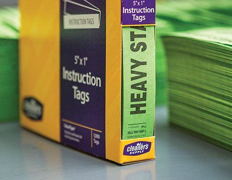 Cleaner's Supply Heavy Starch Green Instruction Tag