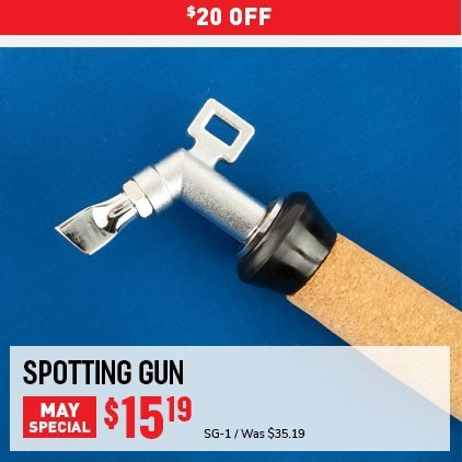 $20 OFF Spotting Gun May Special. SG-1 Was $35.19, Now $15.19. Expires 5/31/21.