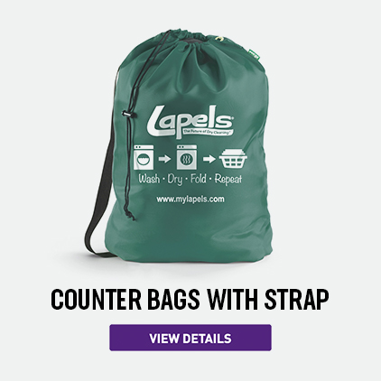 Lapels Green Heavy-Weight Counter Bag with Strap