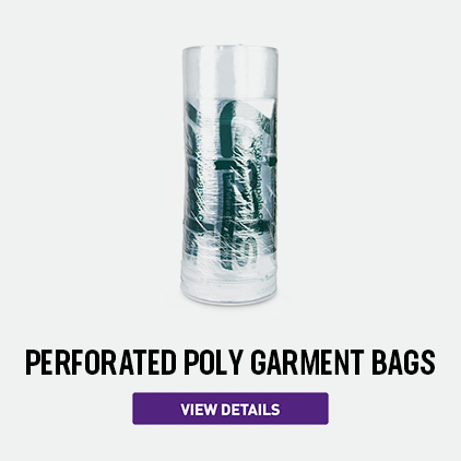 Lapels Perforated Poly Garment Bags