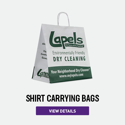 Lapels Paper Shirt Carrying Bags
