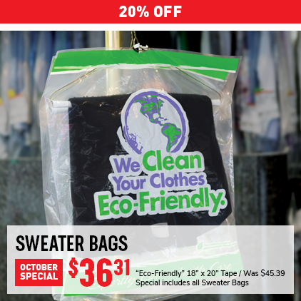 Cleaner's Supply Sweater Bag Sale