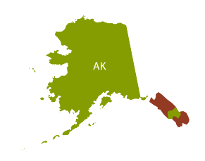 Cleaner's Supply Shipping Map Alaska