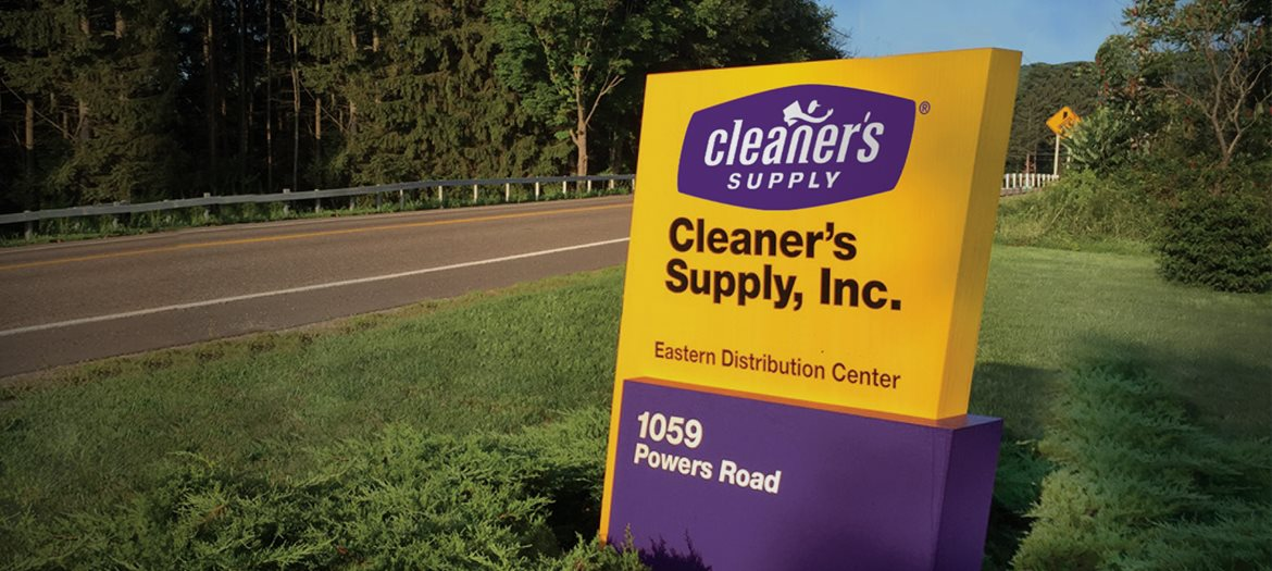 Cleaner's Supply Dry Cleaning Supplies East Coast Distribution Center Road Entrance Sign