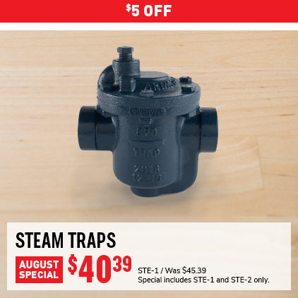 Cleaner's Supply Steam Trap Sale